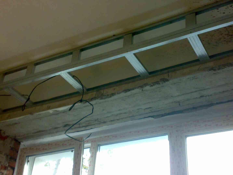 Короб из гипсокартона на потолок своими руками фото