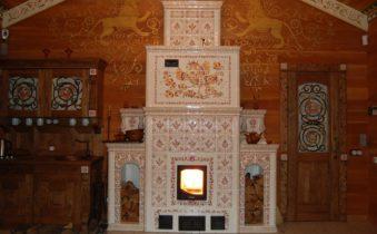 печь с керамической плиткой