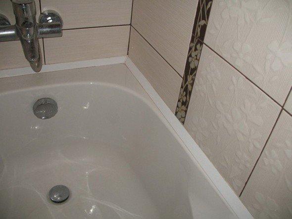 ПВХ плинтус для ванной