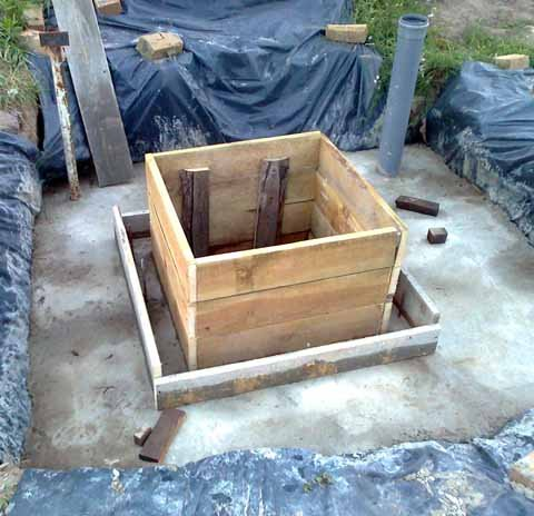 Строительство бетонного кессона