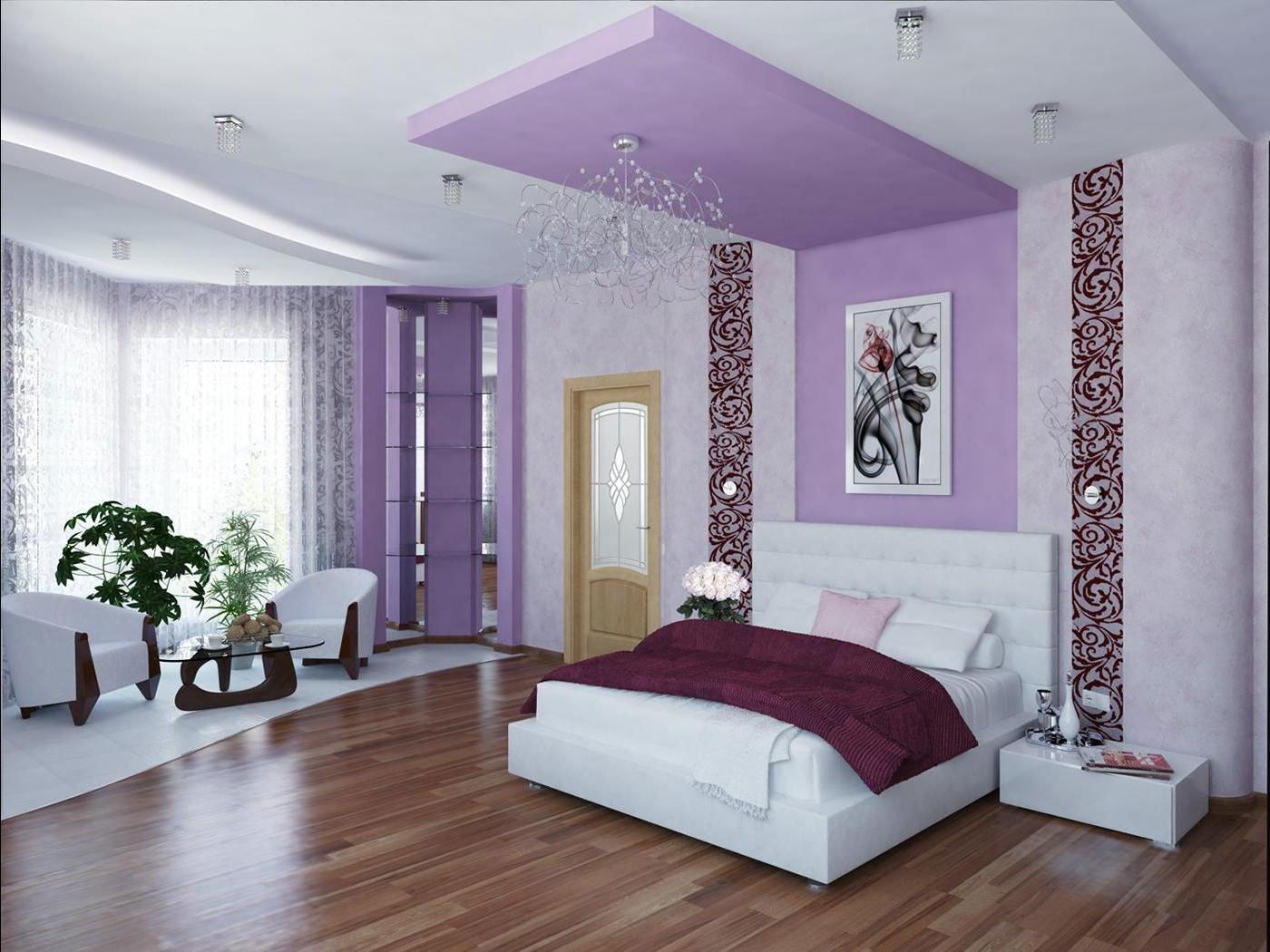 Спальня в лиловых тонах фото
