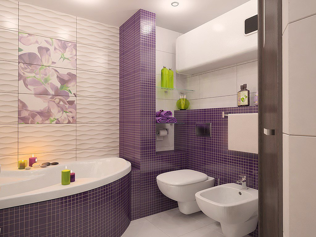 Дизайн плитки ванная