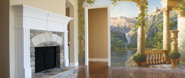 Художественная галерея в собственной гостиной, или Чудо-фрески в интерьере