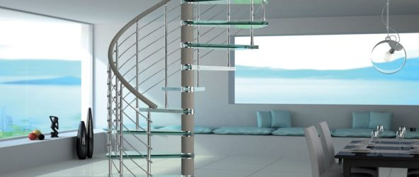 Воздушность и изящество: винтовые лестницы в интерьере и на фото