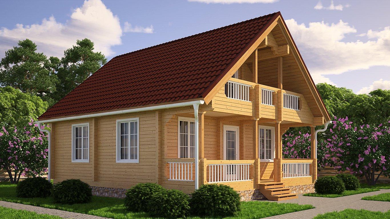 Готовые дома из бруса фото