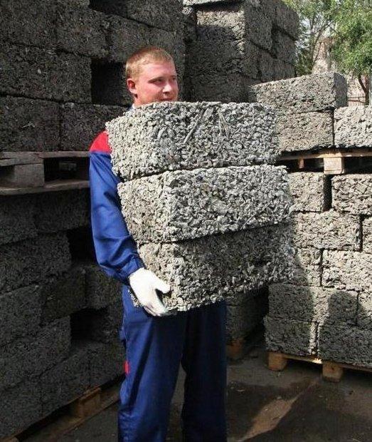 Изготовление блоков из опилок своими руками