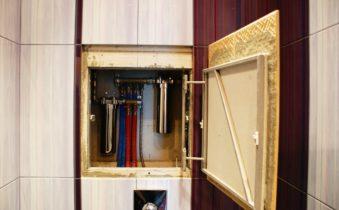 трубы в ванной спрятанные