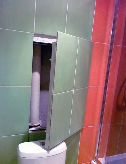 Фальшстена в ванной