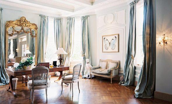 Дамская комната в голубых тонах