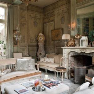 Дворцовый французский стиль в гостиной