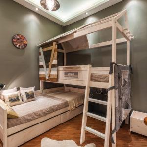 Двухъярусная кровать для мальчиков
