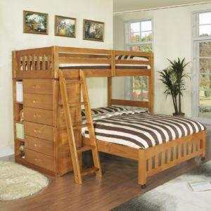 Двухъярусная кровать с двойным спальным местом