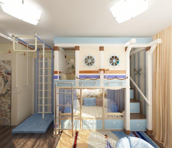Кровать со шведской стенкой