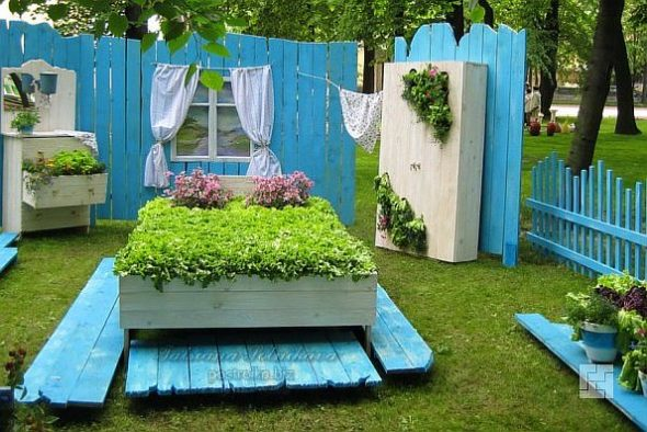 Двор в стиле прованс