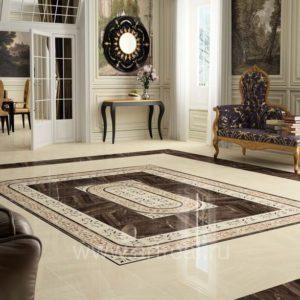 Холл с ковром из напольной плитки