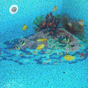 Идея оформления бассейна мозаикой