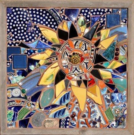 Картина из битой плитки своими руками