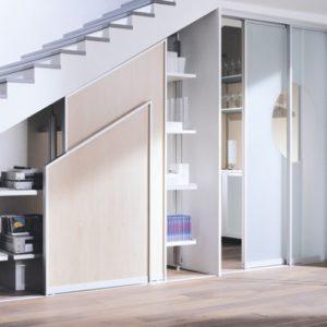 Купейный шкаф под лестницей