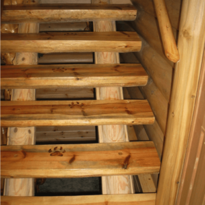 Лестница из брёвен