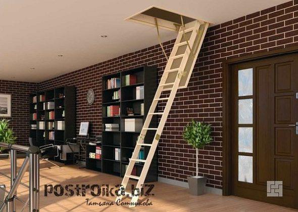 Лестница на мансарду и дерева
