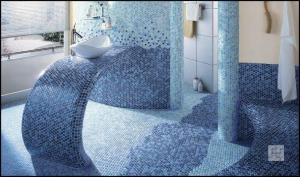 Мозаика в оформлении ванных комнат