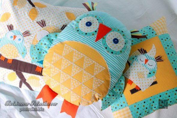 Декоративная подушка в виде совы