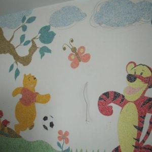Панно из жидких обоев в детской комнате