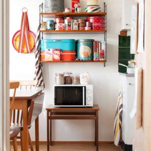 Полки для хранения на кухне