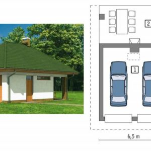 Проект гаража на 2 машины и фото