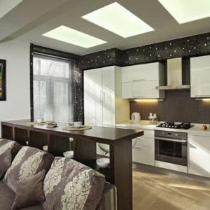 Разделение кухни и гостиной в квартире-студии