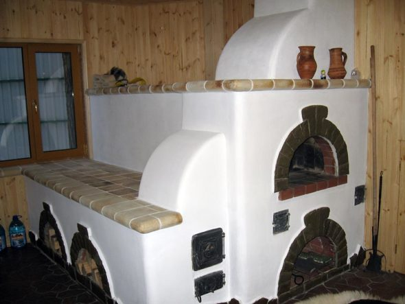 Русская печь своими руками с лежанкой и без устройство