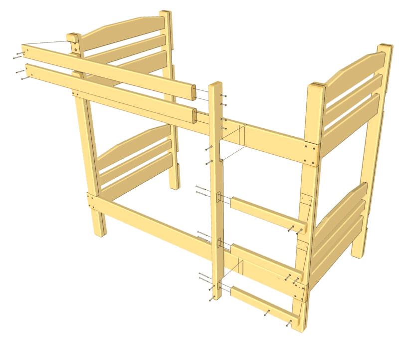 Как сделать детскую двухъярусную кровать своими руками фото 56