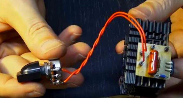 Соединение резистора с платой