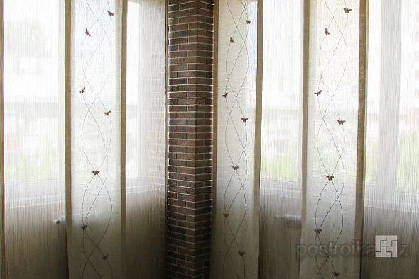 Японские шторы в интерьере 4