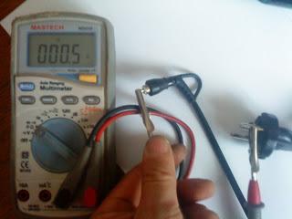 Тестирование провода мультиметром