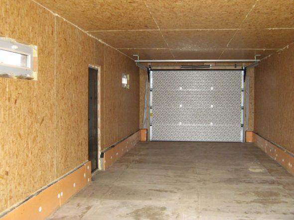 Внутренняя обшивка гаража