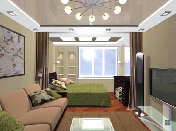 зонирование комнаты в стиле модерн