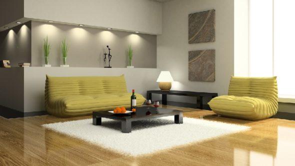 Декор интерьера в стиле хай-тек