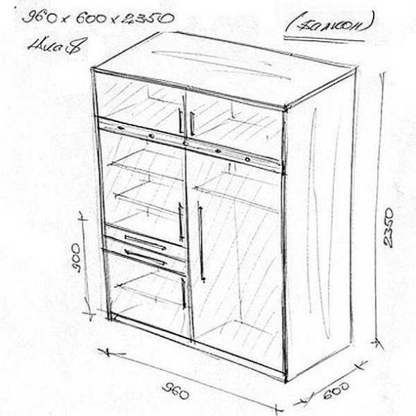 Эскиз корпусного шкафа