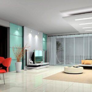 Дизайн квартиры-студии с большими окнами