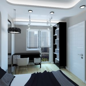 Маленькая комната в стиле хай-тек