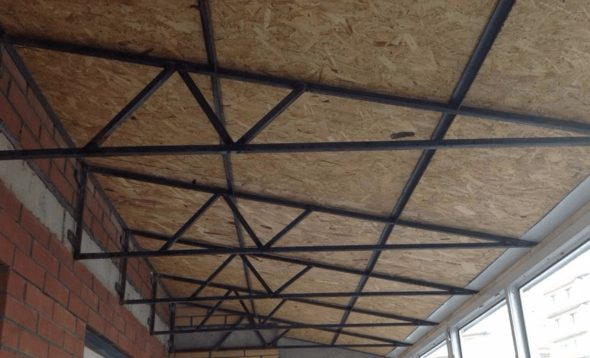 Металлический каркас крыши