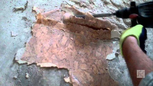 Удаление линолеума, подготовка пола к укладке ламината