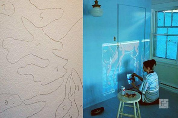 Рисование по проекции на стене