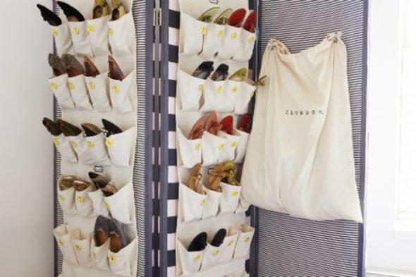 Карманы из ткани для хранения обуви