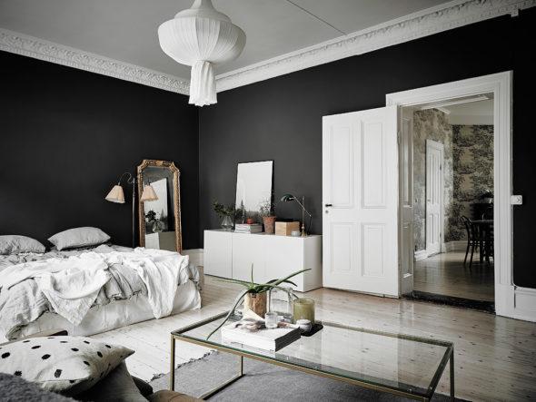 Традиционный скандинавский стиль в интерьере спальни