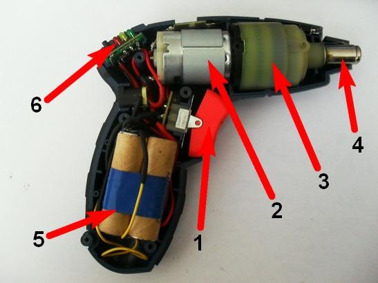 Устройство аккумуляторной отвёртки