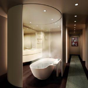 Дизайн ванной комнаты в тёплых тонах