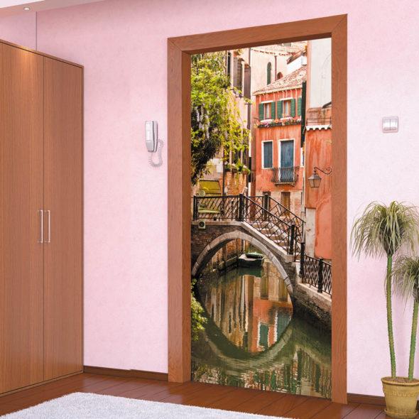 Декор металлической входной двери своими руками 74