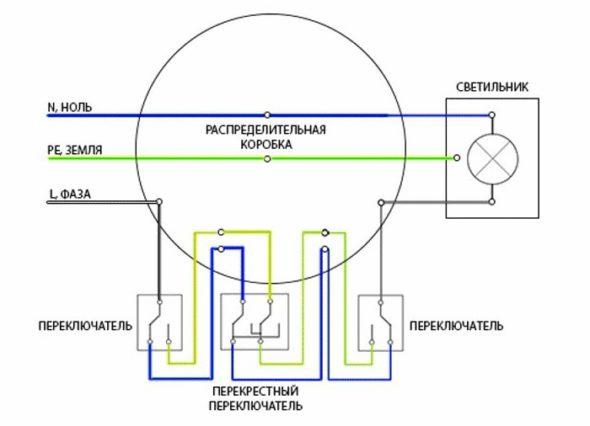 Схема с перекрёстным выключателем
